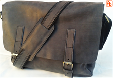 Load image into Gallery viewer, Italian Leather, Vintage Style, Unisex Computer Bag,