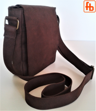Load image into Gallery viewer, Italian Vintage Style, Handmade, Oiled Italian Leather, Crossbody Bag.