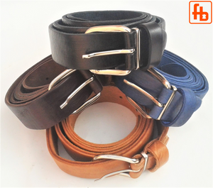 Leather Belt, Handcrafted Full Grain Leather, Adjustable Buckle.