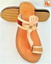 Load image into Gallery viewer, Ladies' Sandal, Kelim/Leather, 'Triple Rubber Composite Sole'