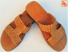 Load image into Gallery viewer, Ladies' Sandals, Plaited Leather, 'Triple Rubber Composite Sole'