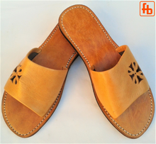Load image into Gallery viewer, Ladies' 'Mandala' Mule, Leather Upper, 'Triple Rubber Composite Sole'.
