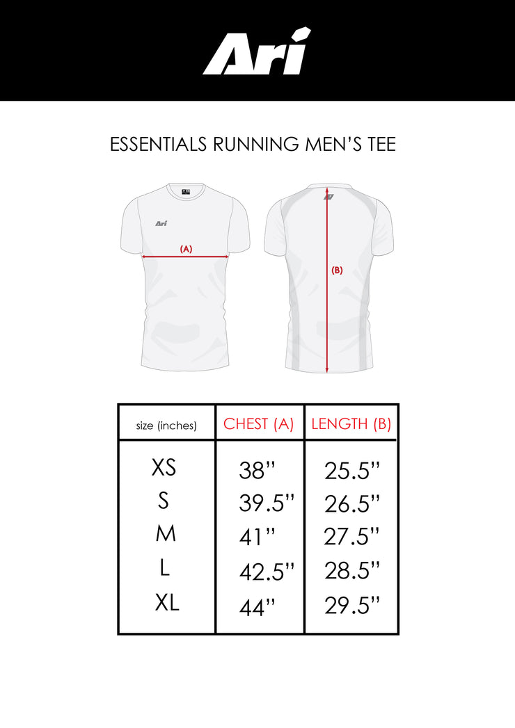 ARI MEN'S ESSENTIALS RUNNING TEE