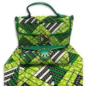 Women's African  Fabric Made Handbag