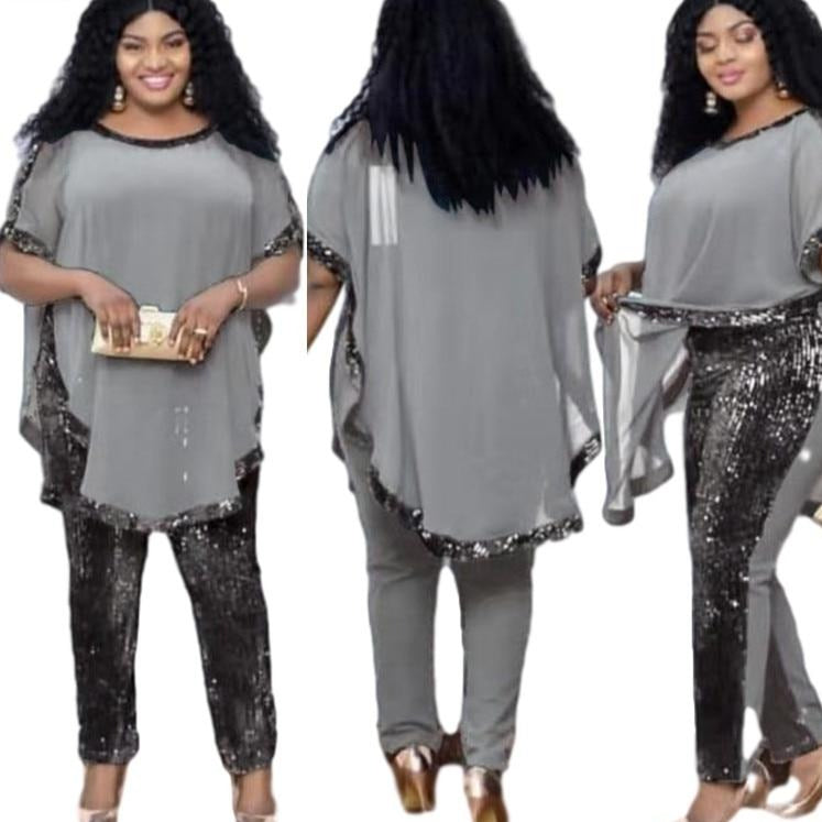 Woman's 3 Piece Dashiki Pantsuit