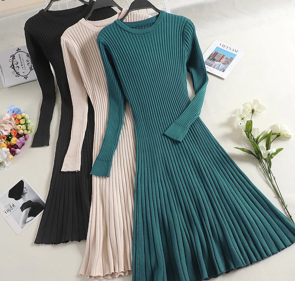 Women's  Long Sleeve Sweater Dress