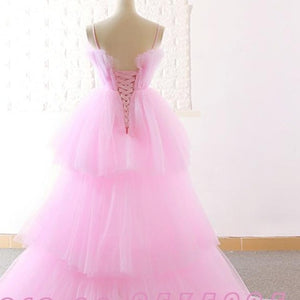 Jark Tozr Custom Made High Low Prom Dresses Vestido De Festa Alibaba China Pink Formal Gowns Ballkleider 1