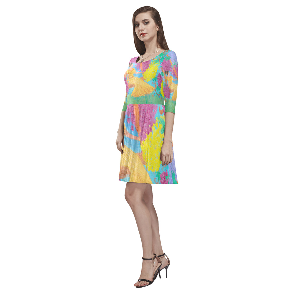 Women Inspire Design Print  Dress