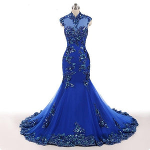 Royal Blue Formal Mermaid Gown