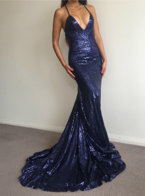 Mermaid Sequins Prom Dress