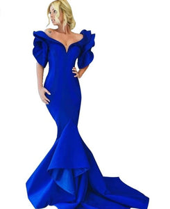 Evening Royal Blue Dress
