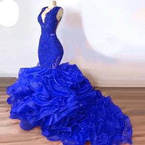 Royal Blue Mermaid Prom Gowns