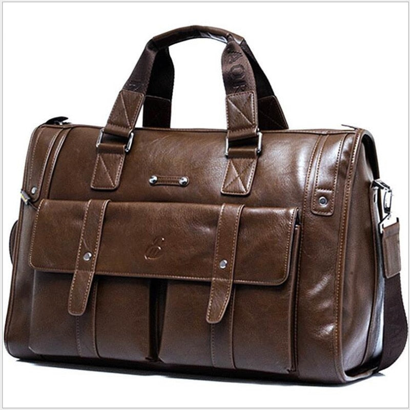 Genuine Leather Business Men's Briefcase