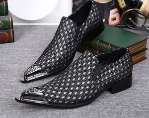 Men's Pointed Metal Toe Dress