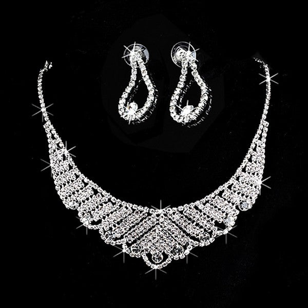Silver Crystal Rhinestone  Jewelry Sets