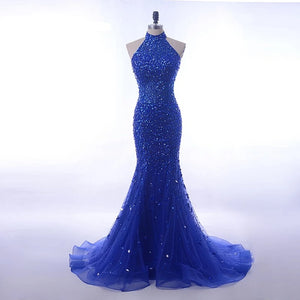 Luxury  Royal  Blue Evening  Gown