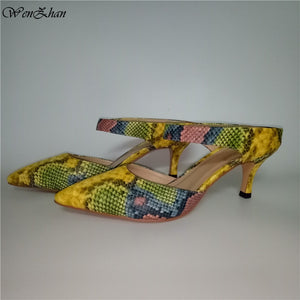 Women's  shoes  Printed Leather &  Clutch