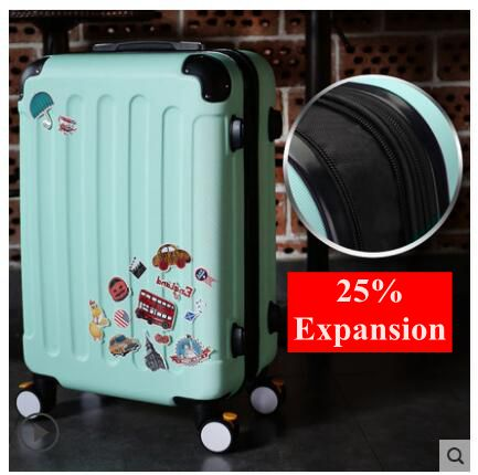 Unisex Rolling Luggage & Boarding Case