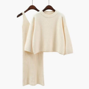 Womans Sweater 2 PC Straped Dress