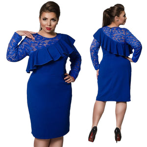 Royal Blue  Lace party  Dress