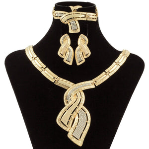 Women's  Dubai Gold Jewelry Crystal