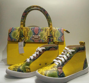 Snake Leather Shoes & Handbag