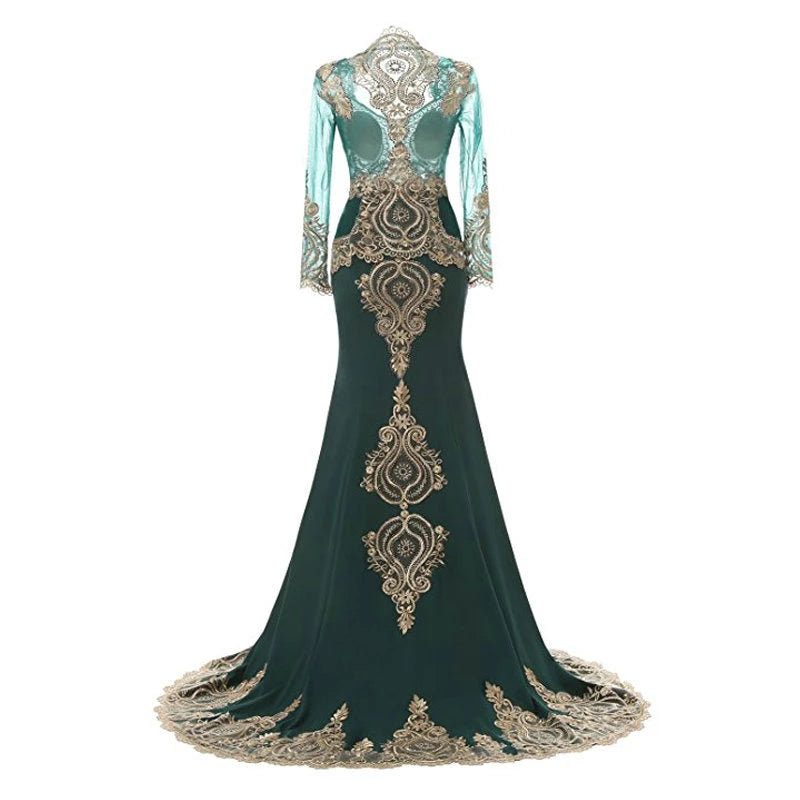 Cape Lace Evening Gown