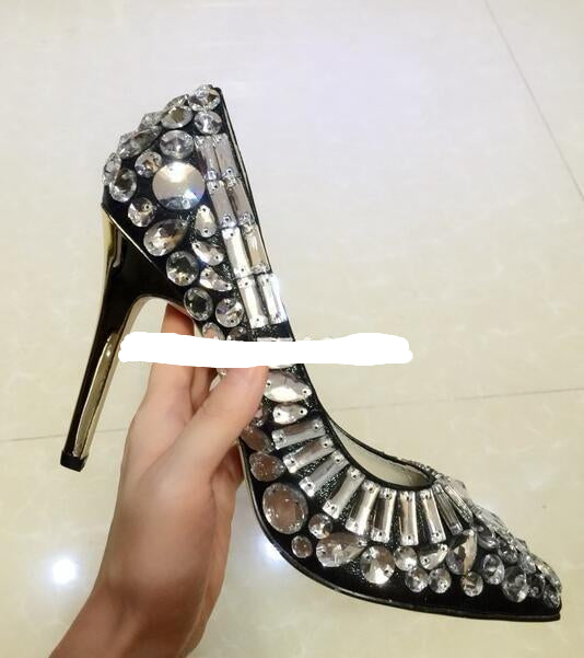 Women's Embellished  Stiletto Heels & Bag