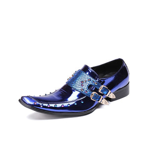 Men's Patent Leather Oxford Shoes