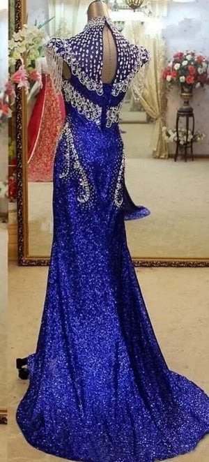Royal Blue Sequin Mermaid Gown