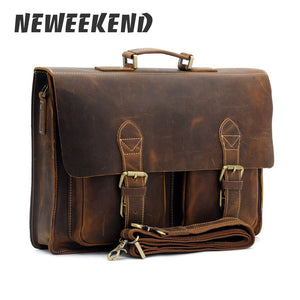 Men's Vintage Leather Briefcase