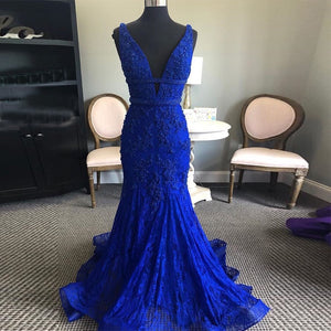 Woman's  Royal Blue Evening Dress