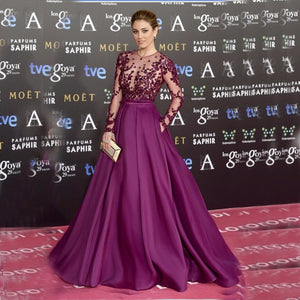 Women Purple Celebrity Gowns