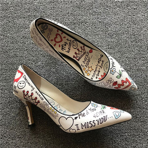 Keiomi's Cute Print Pumps