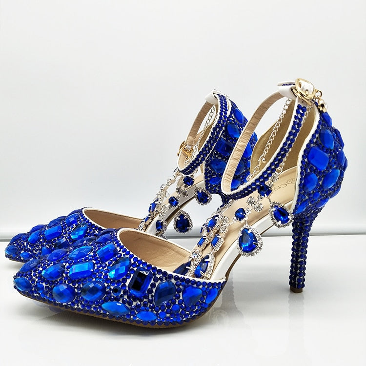 Royal Blue Crystal shoes &  bags
