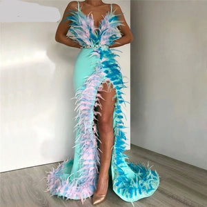 Classy Lady Feather Gown