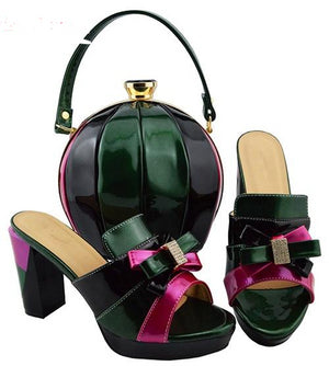Women's multicolored Shoe and Bag