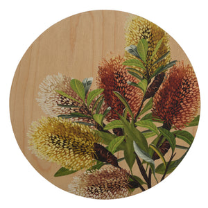 Banksia Blue - Round Timber Art Decor