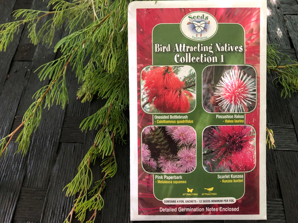 Seeds from Tasmania - Bird Attracting Natives Collections (OVERSEAS OPTION NO GST)