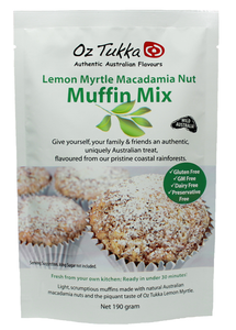 OZ TUKKA PRODUCTS - LEMON MYRTLE MUFFIN MIX - GLUTEN FREE