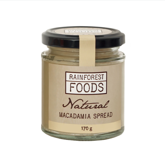 RAINFOREST FOODS - Natural Macadamia Spread 170g