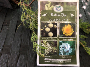 Seeds from Tasmania - Native Bee Collection (OVERSEAS OPTION NO GST)