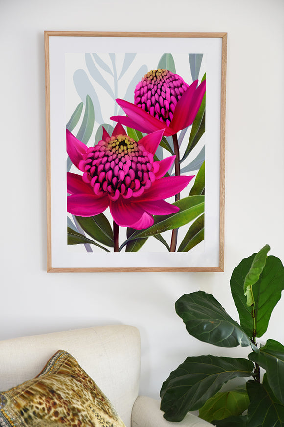 Banksia Blue - A3 Wall Art Prints