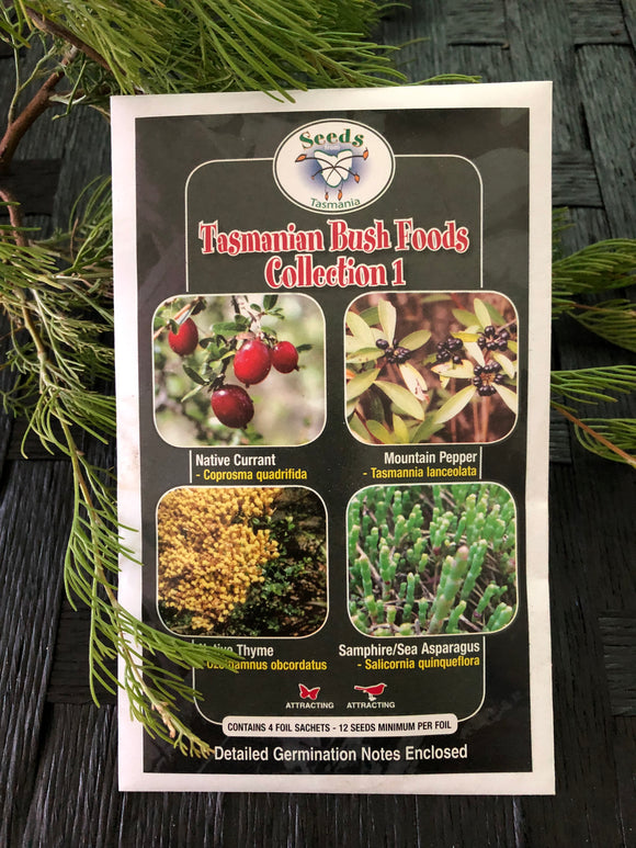 Seeds from Tasmania - Tasmanian Bush Food Collections (OVERSEAS OPTION NO GST)