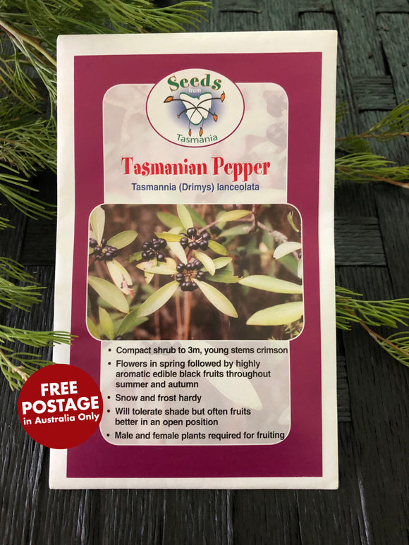 Seeds from Tasmania - Tasmanian Pepper