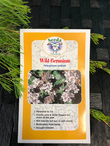 Seeds from Tasmania - Wild Geranium (OVERSEAS OPTION NO GST)
