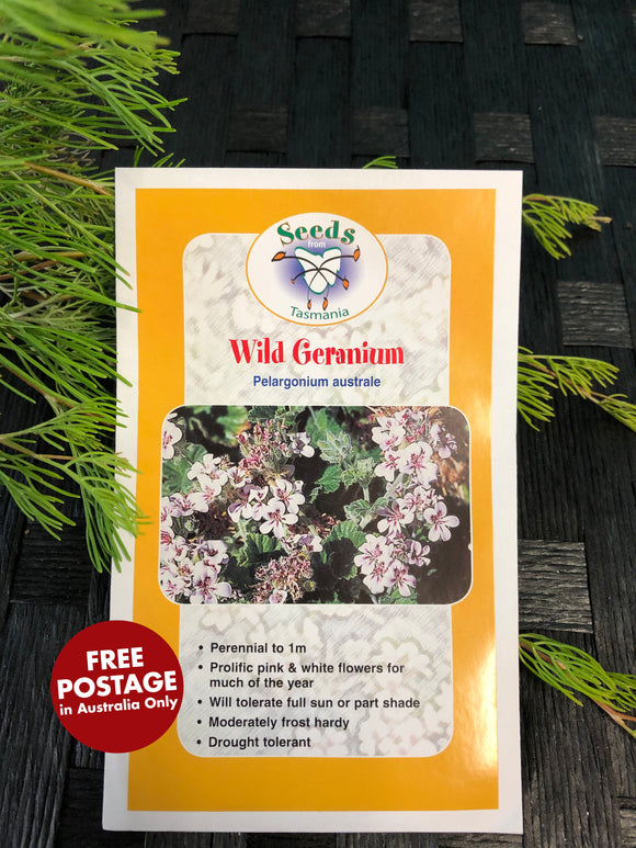 Seeds from Tasmania - Wild Geranium