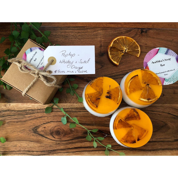 Sweet Orange & Whiskey Handmade Soap