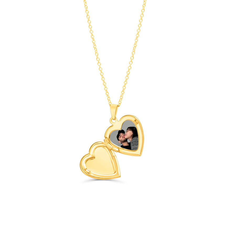 Gold Vintage Heart Locket Necklace