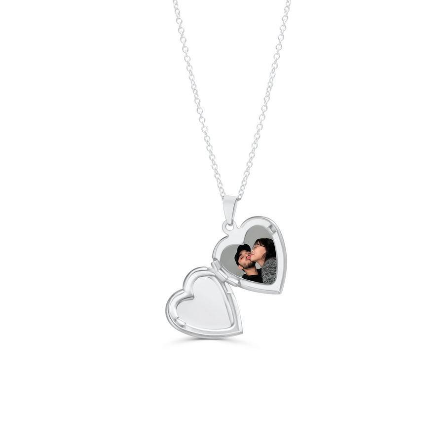 Silver Vintage Heart Locket Necklace